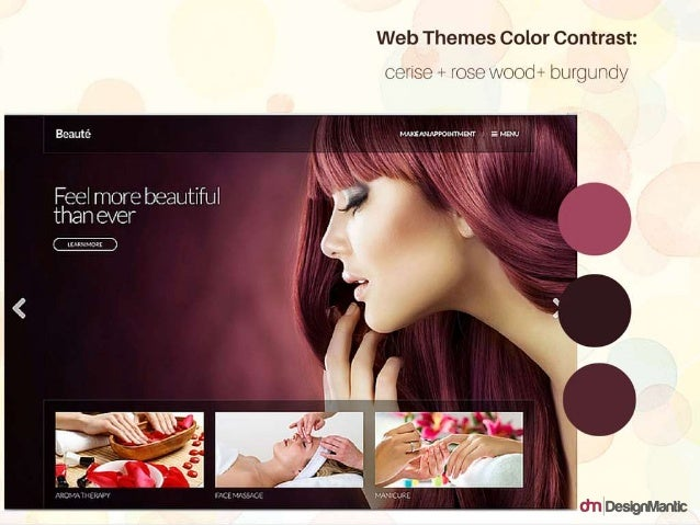 Web Themes Color Contrast: cerise + rosewood + burgundy