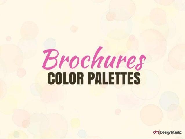 Brochures Color Palettes