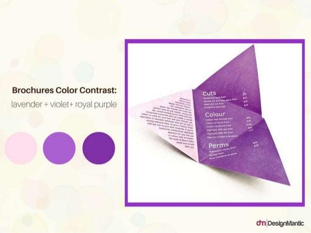 Brochures Color Contrast: lavender + violet + royal purple