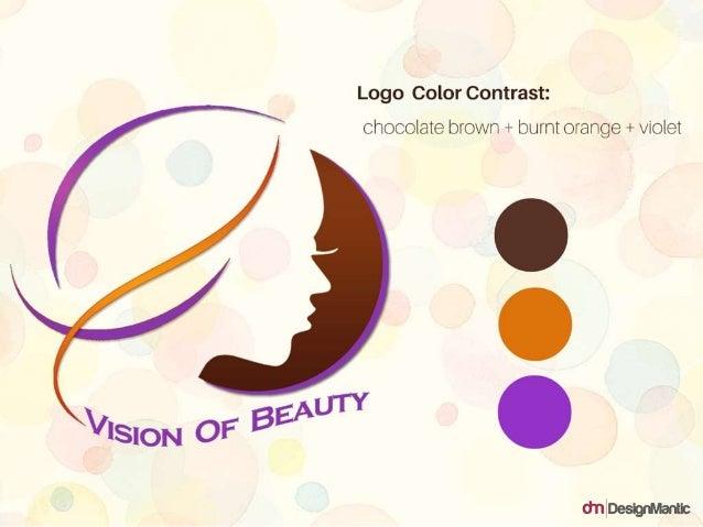 Logo Color Contrast: chocolate brown + burnt orange + violet