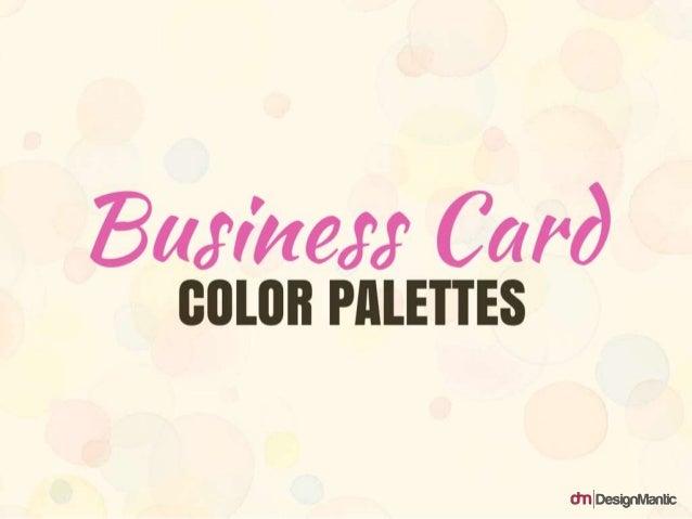 Business Card color palettes
