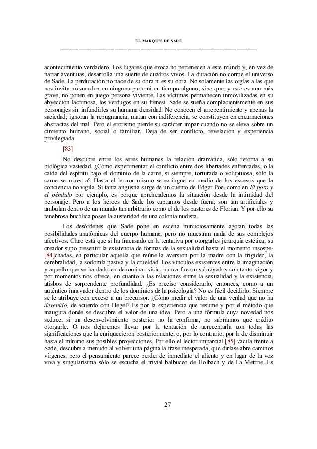 el marques de sade pdf