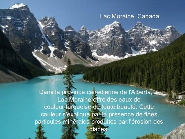 Lac Moraine, Canada Dans la province canadienne de lAlberta, le         Lac Moraine offre des eaux de   couleurturquoise ...