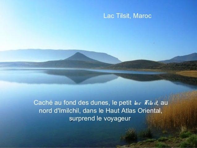 Lac Tilsit, MarocCaché au fond des dunes, le petit la c Tils it, au nord dImilchil, dans le Haut Atlas Oriental,          ...