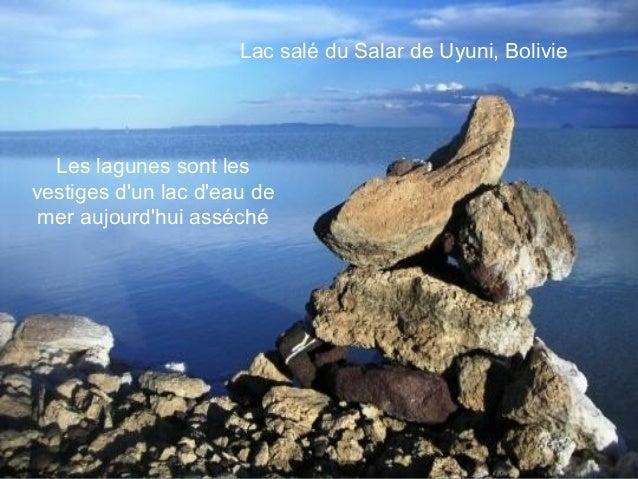 Lac salé du Salar de Uyuni, Bolivie  Les lagunes sont lesvestiges dun lac deau de mer aujourdhui asséché