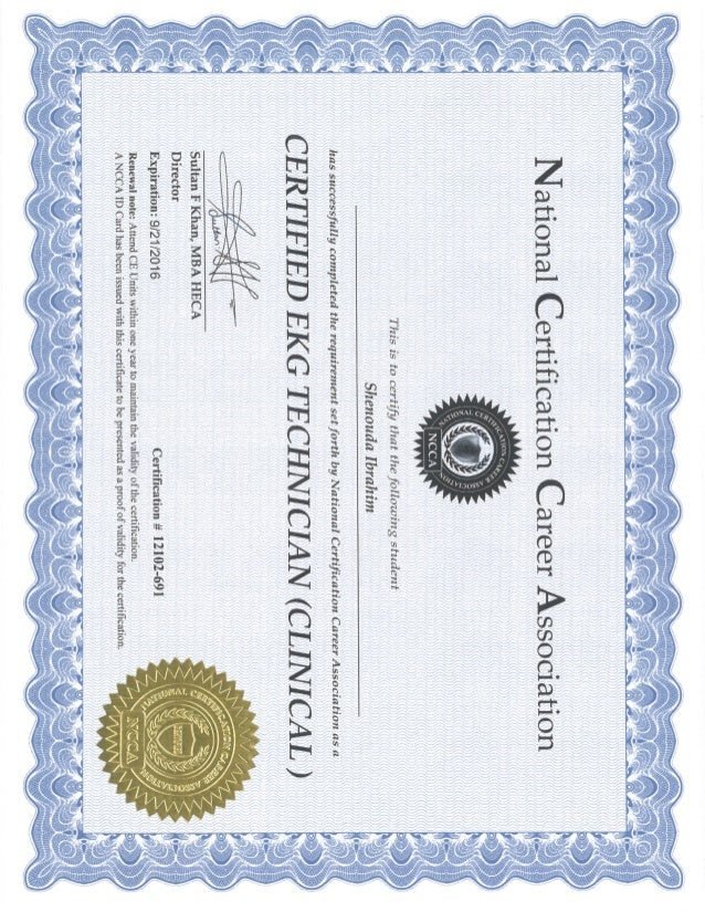 EKG Phlebotomy Certificates