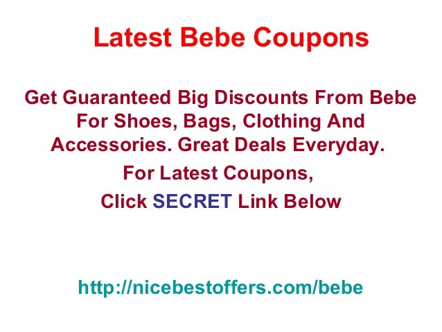 bebe coupons promo code december 2012 january 2013 february 2013. Black Bedroom Furniture Sets. Home Design Ideas