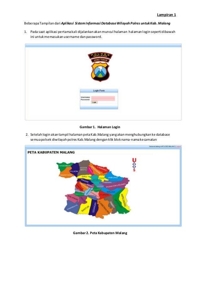 Beberapa Screenshot Dari Aplikasi Sistem Informasi Database Wilayah