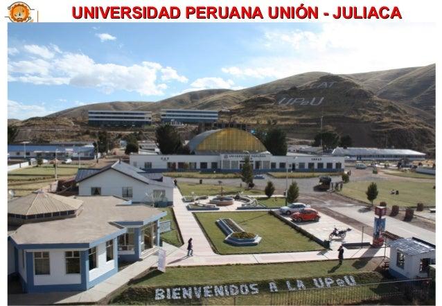 UNIVERSIDAD PERUANA UNIÓN - JULIACAUNIVERSIDAD PERUANA UNIÓN - JULIACA 11
