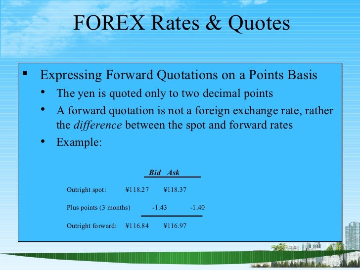 Forex outright forward