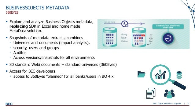 Learn how SAP BusinessObjects is used at BEC and some of