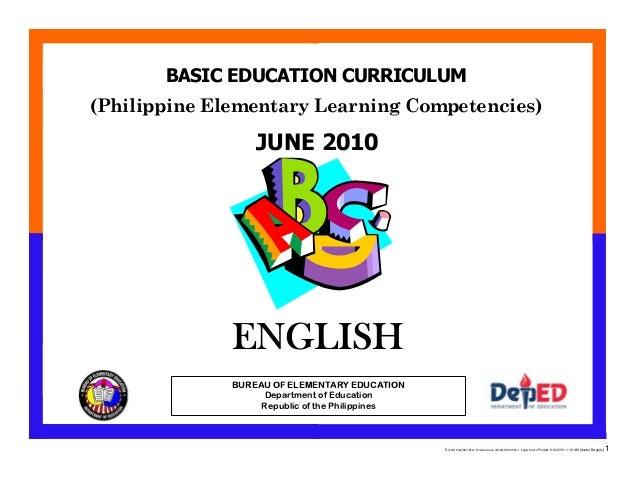 E:CDD FilesBEC-PELC Finalized June 2010COVER PELC - English.docx Printed: 8/12/2010 11:19 AM [Anafel Bergado] 1 (Philippin...