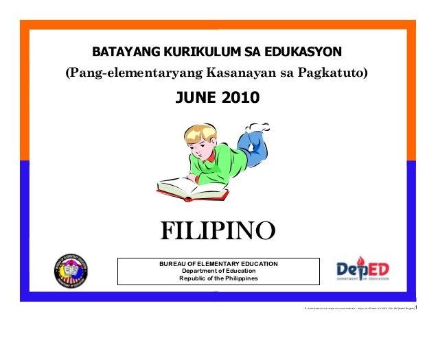Bec pelc 2010 filipino for Bureau tagalog