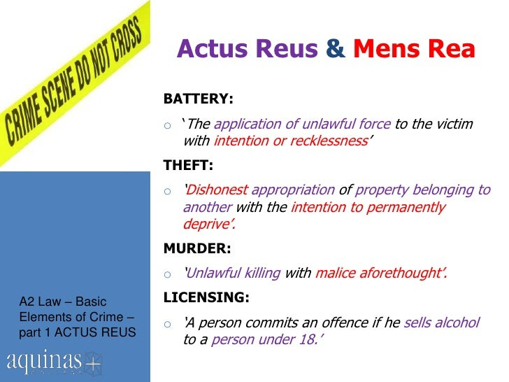 intention mens rea essays Criminal investigation procedures assignment 4 mens rea 1 mens rea is latin for guilty mind in criminal law, it is viewed as one of the.