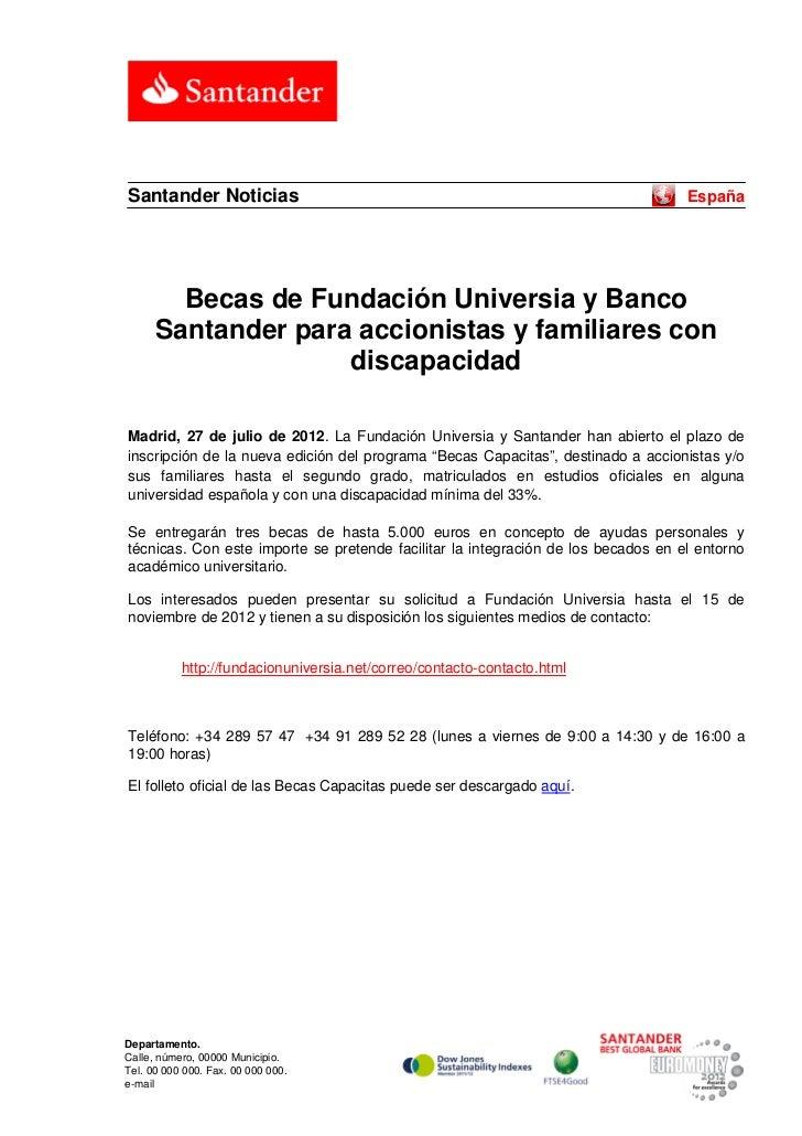 Santander Noticias                                                                 España        Becas de Fundación Univer...