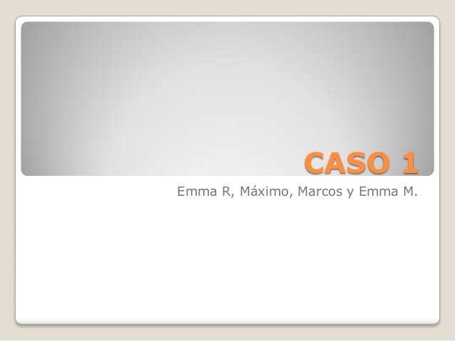 CASO 1 Emma R, Máximo, Marcos y Emma M.