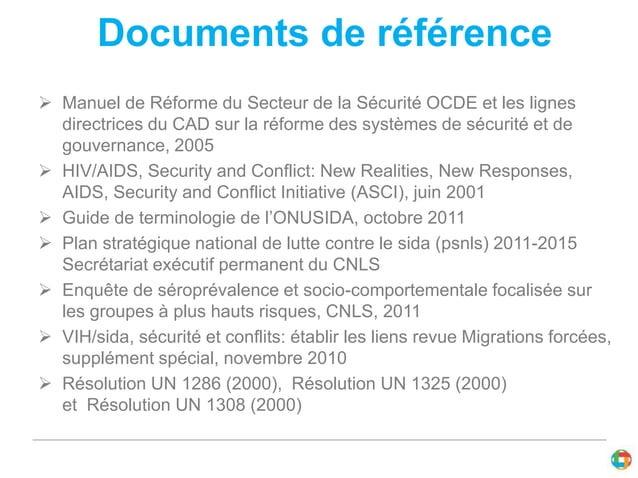 Documents de référence   Manuel de Réforme du Secteur de la Sécurité OCDE et les lignes  directrices du CAD sur la réform...