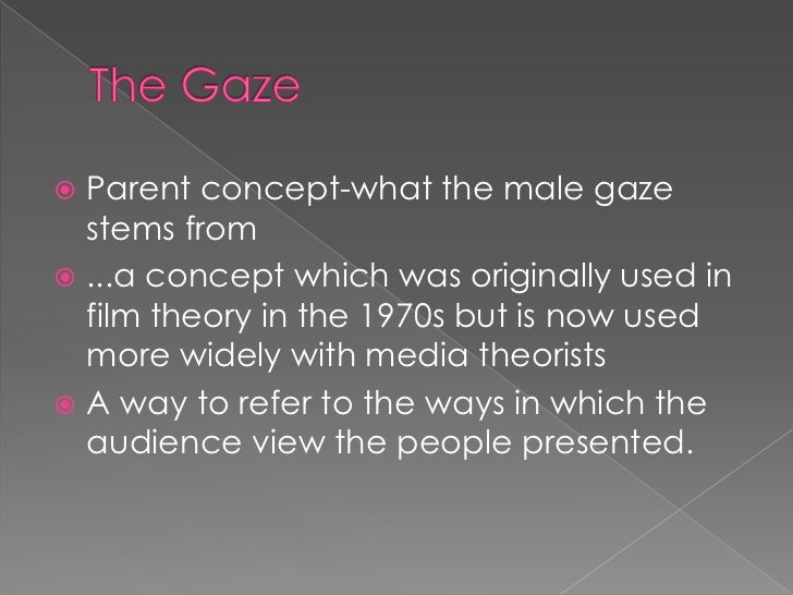 mulvey essay In her essay ` visual pleasure and narrative cinema `, laura mulvey talks about  the dominant male gaze in mainstream movies the male characters are active.