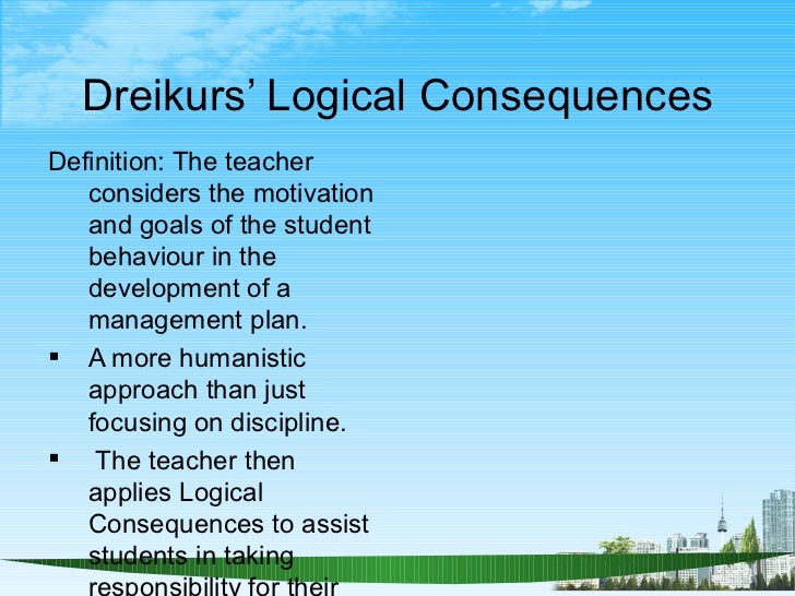 dreikurs logical consequences