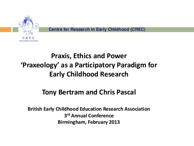 Centre for Research in Early Childhood (CREC)         Praxis, Ethics and Power'Praxeology' as a Participatory Paradigm for...