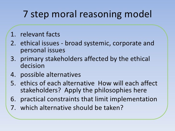 influence of moral reasoning Peer influence and moral decision-making in undergraduate cliques paul s adams, university of pennsylvania abstract of the factors influencing the development of.