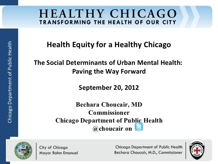 Health Equity for a Healthy ChicagoChicago Department of Public Health                                      The Social Det...