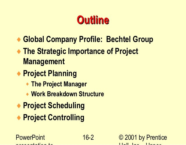 Bechtel Project Planning Example