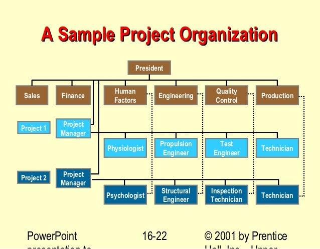 ... Prentice; 22. A Sample Project Organization ...