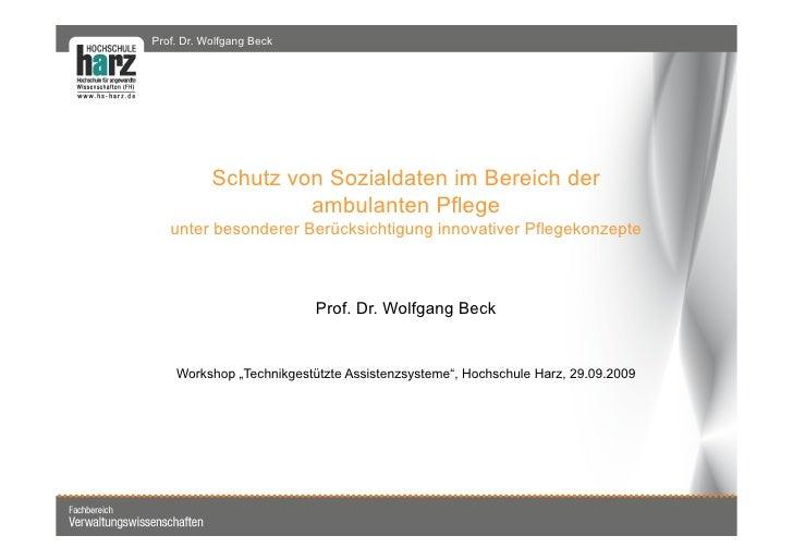 Prof. Dr. Harald Mustermann | Wirtschaftsinformatik WS 06/07                  Prof. Dr. Wolfgang Beck                     ...