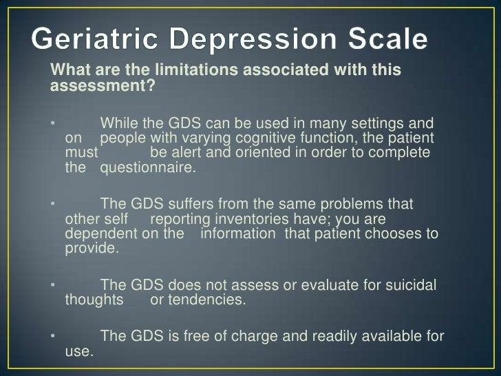 Beck Depression Inventory & Geriatric Depression Scale