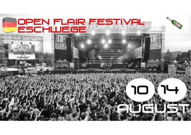 OPEN FLAIR FESTIVAL ESCHWEGE 10 14 august