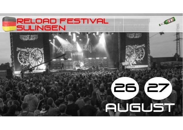 RELOAD festival 26 27 AUGUST SULINGEN