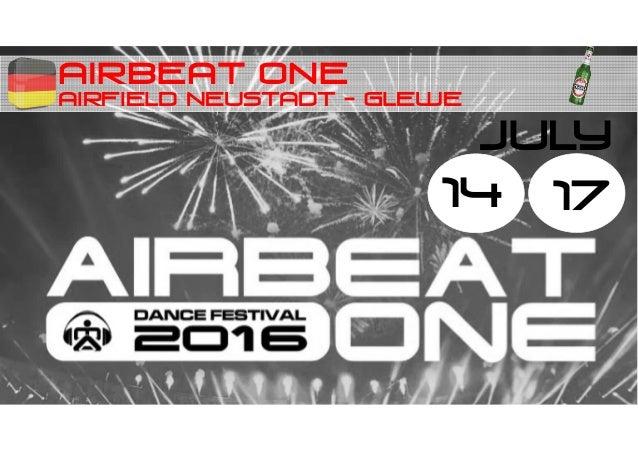 AIRBEAT ONE AIRFIELD NEUSTADT - GLEWE 14 JULY 17