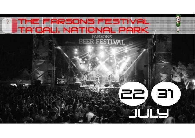 The farsons festival 22 31 july Ta'qali, national park