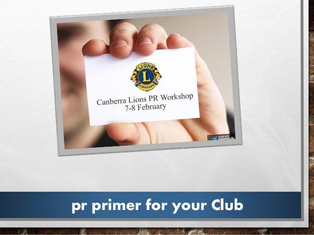 pr primer for your Club