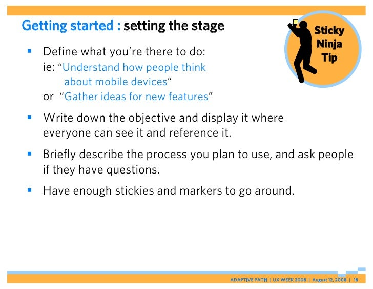 Getting started : setting the stage                                      Sticky                                           ...