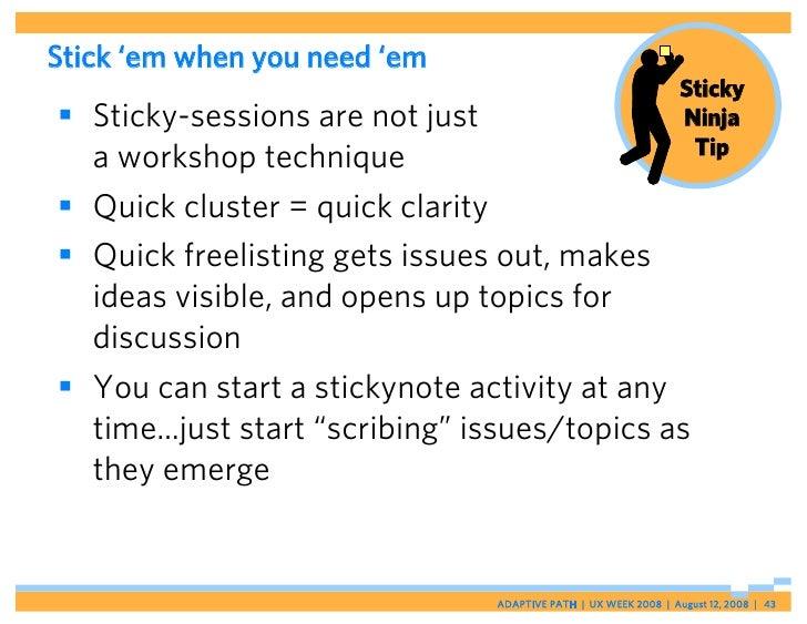 Stick 'em when you need 'em                                                                  Sticky  Sticky-sessions are ...