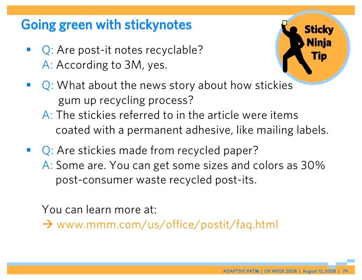 Going green with stickynotes                                           Sticky                                             ...