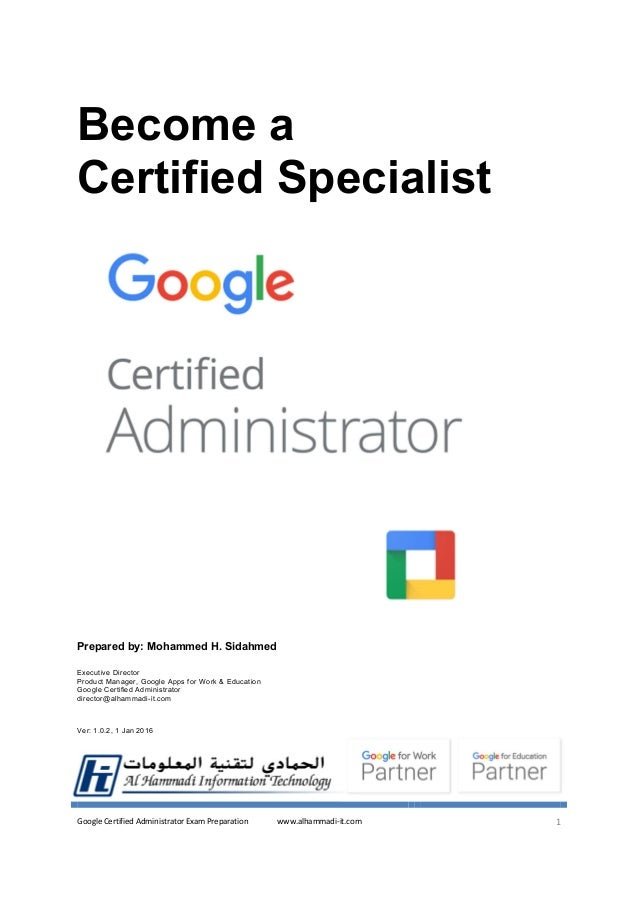 Google Apps Certified Administrator