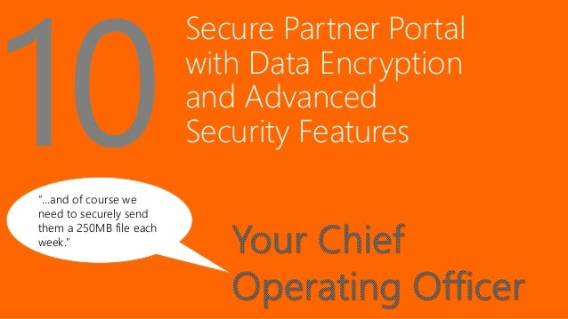 """Secure Partner Portal with Data Encryption and Advanced Security Features """"…and of course we need to securely send them a ..."""