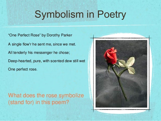 one perfect rose poem