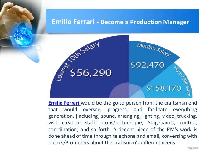 become a production manager emilio ferrari by emilio ferrari email emilioferrari07gmailcom 2