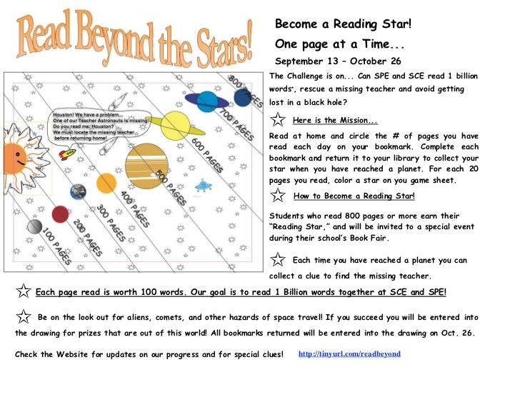 Become a Reading Star!                                                                  One page at a Time...             ...