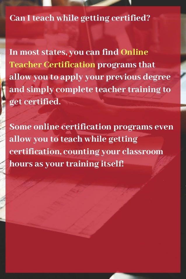 Become A Teacher In America
