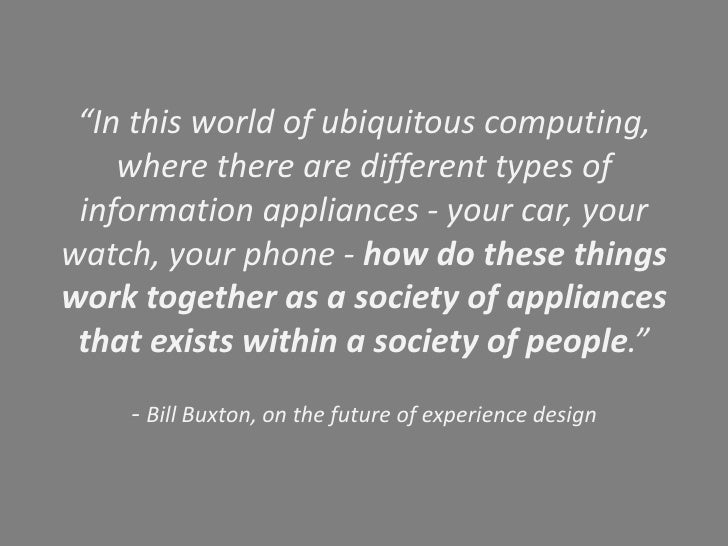Ubiquitous computing <br />Launched research around:<br />- Distributed and mobile computing<br />- User experience and in...