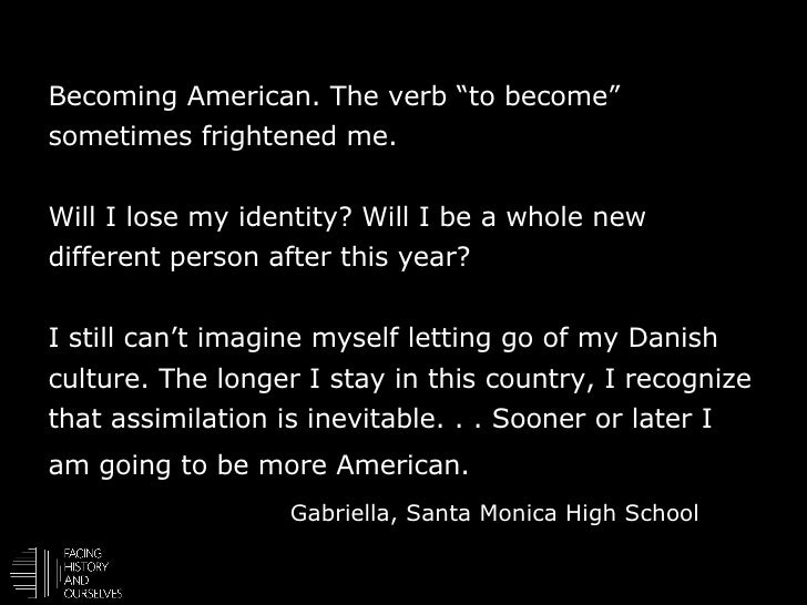 my american identity essay What is the american identity anonymous how i define american identity is living in the land founded by both political and religious leaders.