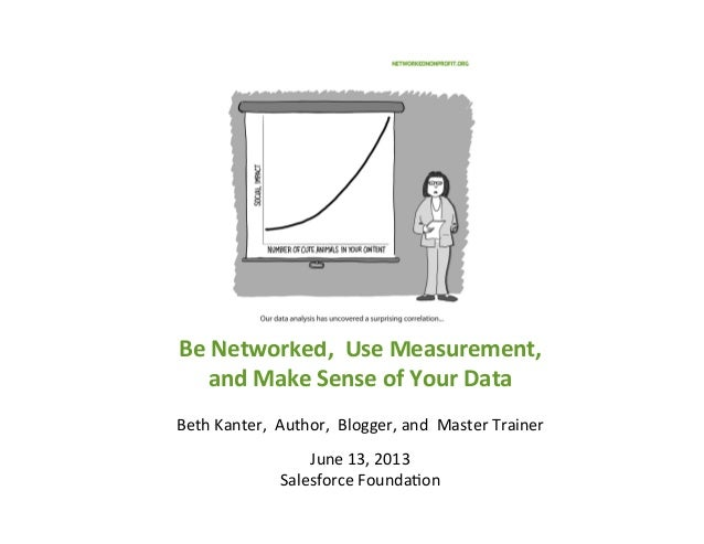 Be	  Networked,	  	  Use	  Measurement,	  	  and	  Make	  Sense	  of	  Your	  Data	  	  Beth	  Kanter,	  	  Author,	  	  ...