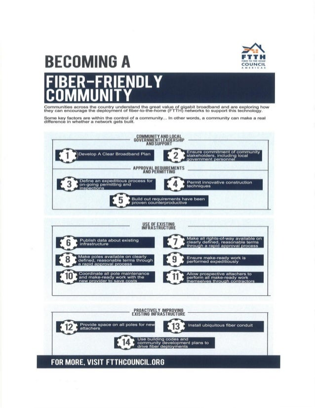 Develop A Clear Broadband Plan0Ensure commitment of communitystakeholders, including local•overnment •ersonnelPermit innov...