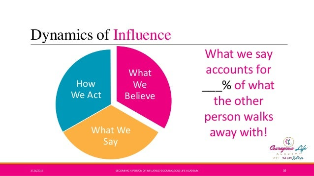 person of influence Lessons from the go-giver influencer part of my daily gratitude practice reminds me of the wonderful people in my life, who encourage and influence me to greater heights each year.
