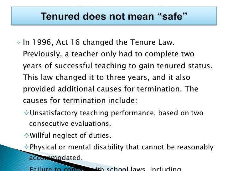 Dismissal tenured teacher dissertation